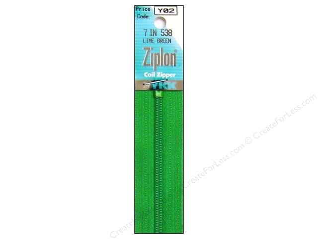 YKK Ziplon Coil Zipper 7 in. Green