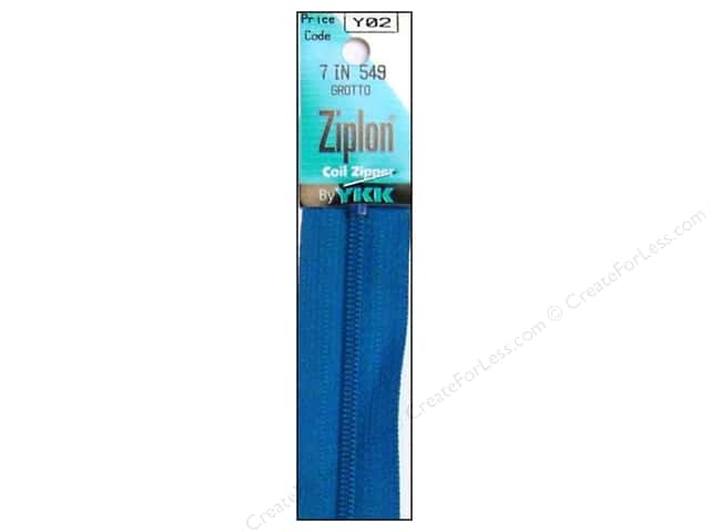 YKK Ziplon Coil Zipper 7 in. Grotto