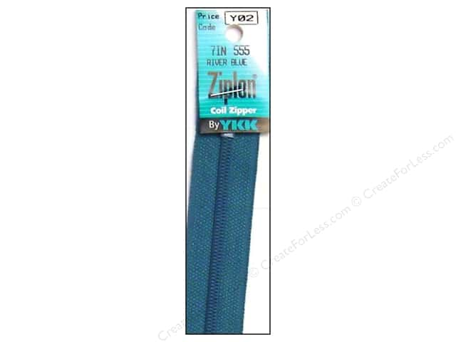 YKK Ziplon Coil Zipper 7 in. River Blue