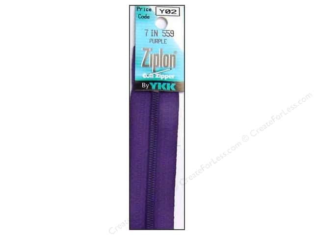 YKK Ziplon Coil Zipper 7 in. Purple