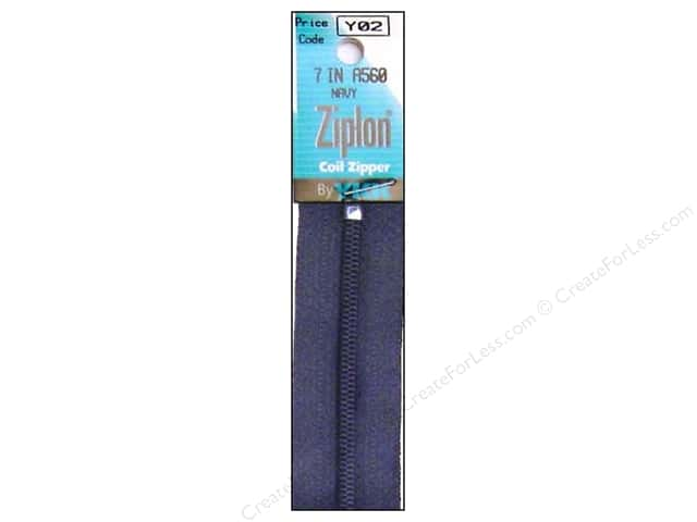 YKK Ziplon Coil Zipper 7 in. Navy