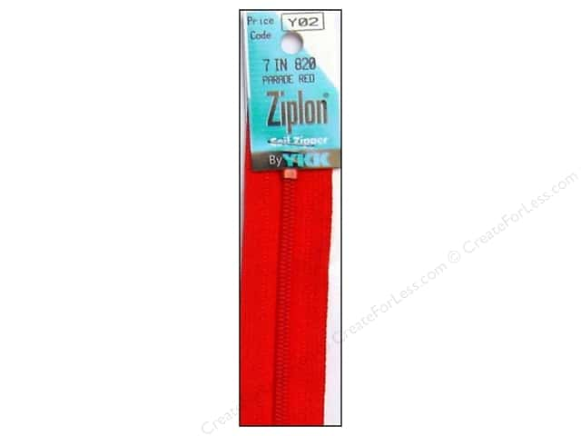 YKK Ziplon Coil Zipper 7 in. Parade Red