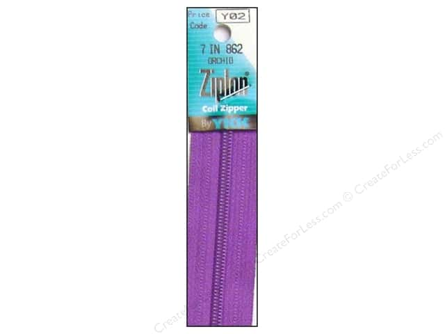 YKK Ziplon Coil Zipper 7 in. Orchid