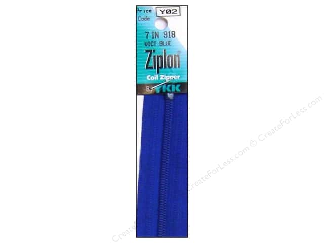YKK Ziplon Coil Zipper 7 in. Victoria Blue