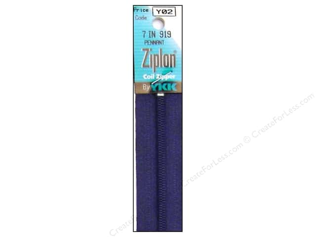 YKK Ziplon Coil Zipper 7 in. Pennant Blue