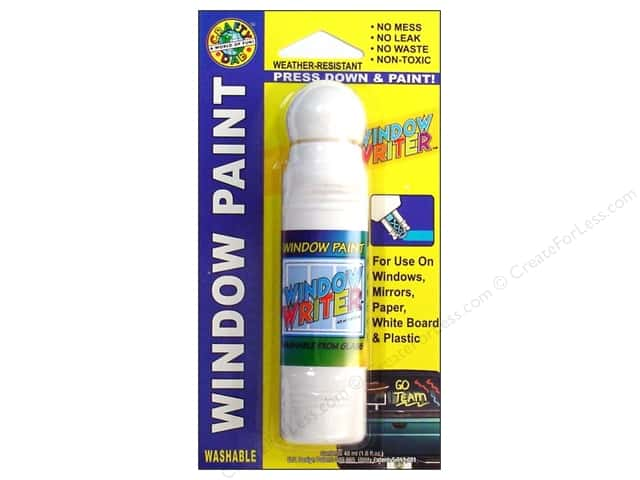Crafty Dab Window Paint Writer 1.6 oz. White