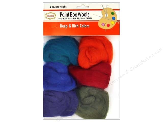 Colonial Needle Paint Box Wools 6 pc. Deep & Rich