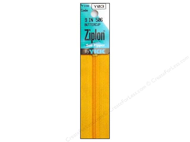 YKK Ziplon Coil Zipper 9 in. Buttercup