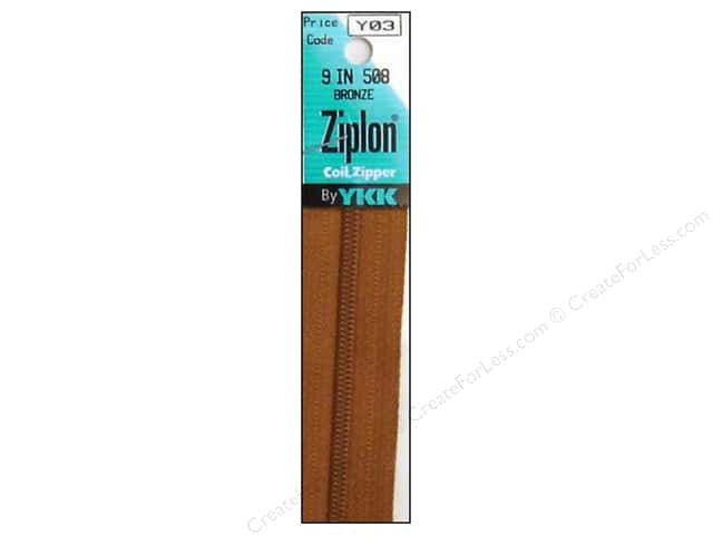 YKK Ziplon Coil Zipper 9 in. Bronze