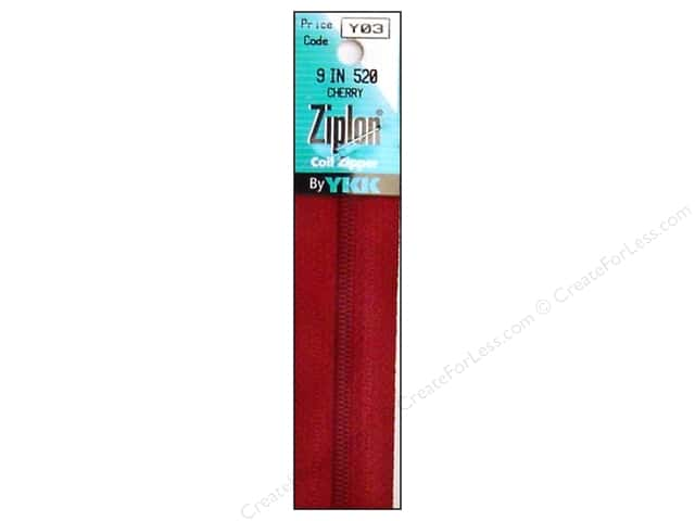 YKK Ziplon Coil Zipper 9 in. Cherry