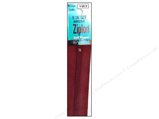 YKK Ziplon Coil Zipper 9 in. Bordeaux