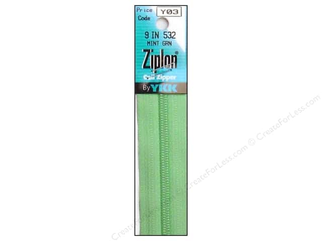 YKK Ziplon Coil Zipper 9 in. Mint Green