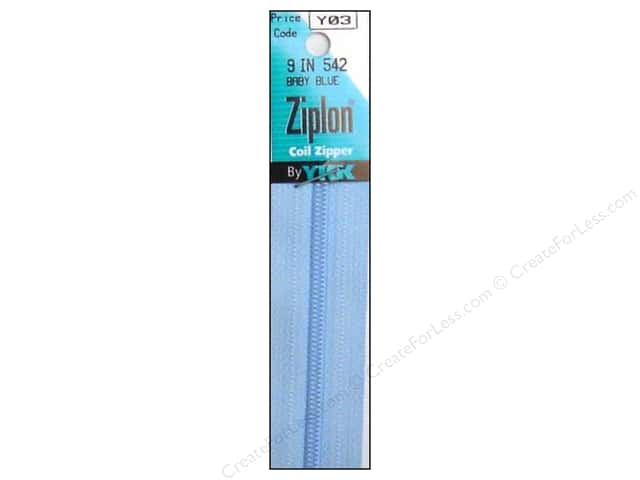 YKK Ziplon Coil Zipper 9 in. Baby Blue
