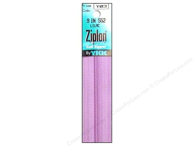 YKK Ziplon Coil Zipper 9 in. Lilac