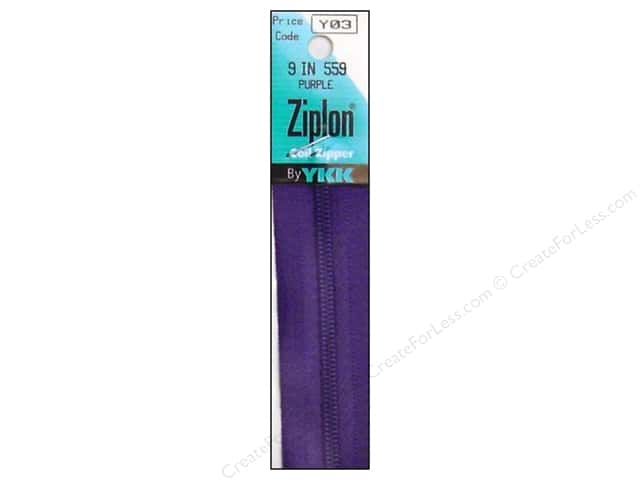 YKK Ziplon Coil Zipper 9 in. Purple