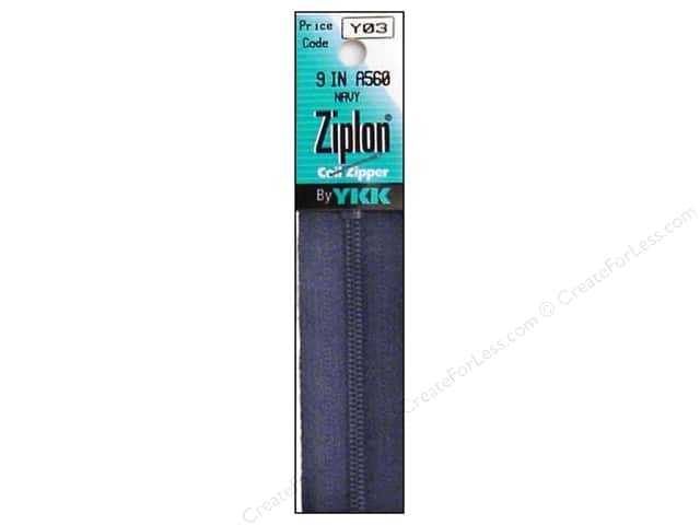 YKK Ziplon Coil Zipper 9 in. Navy