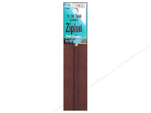 YKK Ziplon Coil Zipper 9 in. Ginger