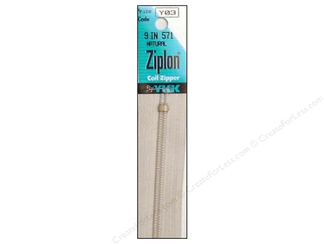 YKK Ziplon Coil Zipper 9 in. Natural