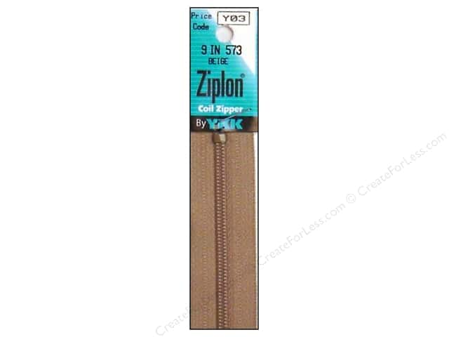 YKK Ziplon Coil Zipper 9 in. Beige