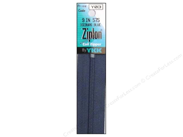 YKK Ziplon Coil Zipper 9 in. Iceburg Blue