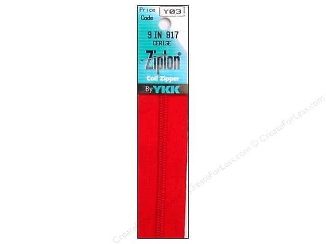 YKK Ziplon Coil Zipper 9 in. Cerise
