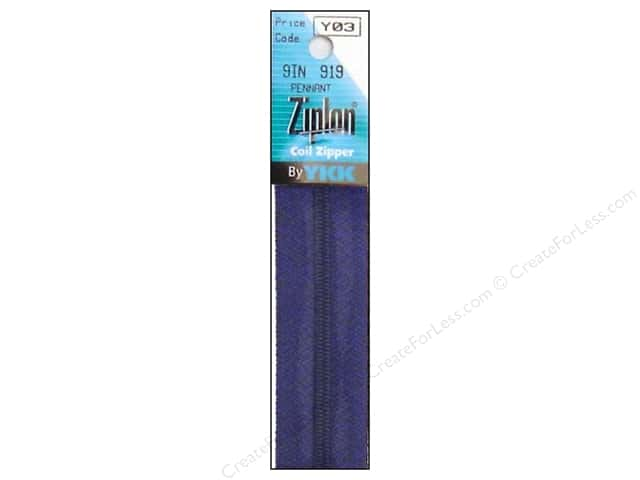 YKK Ziplon Coil Zipper 9 in. Pennant Blue