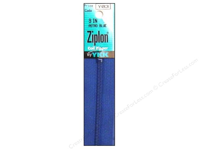 YKK Ziplon Coil Zipper 9 in. Astro Blue