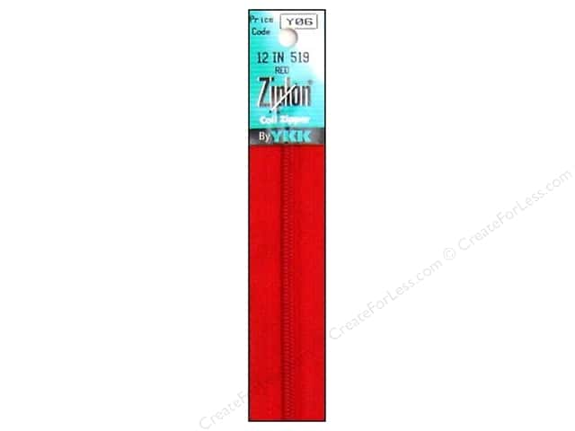 YKK Ziplon Coil Zipper 12 in. Red