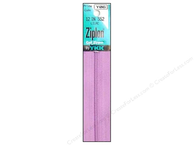 YKK Ziplon Coil Zipper 12 in. Lilac