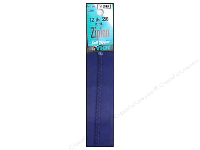 YKK Ziplon Coil Zipper 12 in. Royal