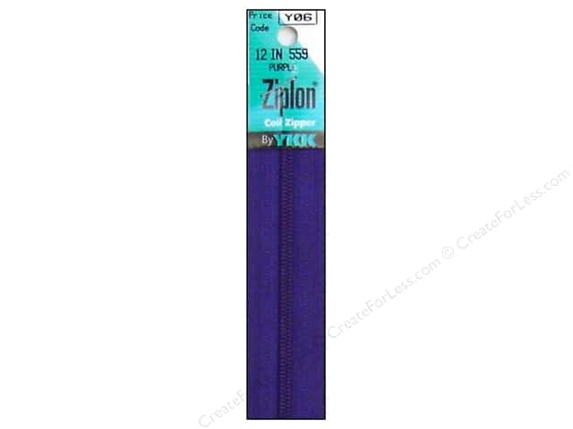 YKK Ziplon Coil Zipper 12 in. Purple