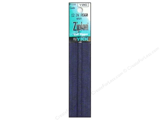 YKK Ziplon Coil Zipper 12 in. Navy