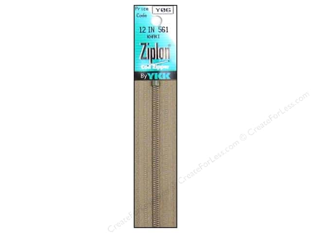 YKK Ziplon Coil Zipper 12 in. Khaki