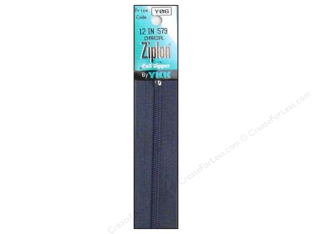 YKK Ziplon Coil Zipper 12 in. Charcoal