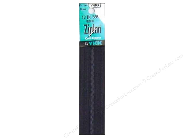 YKK Ziplon Coil Zipper 12 in. Black