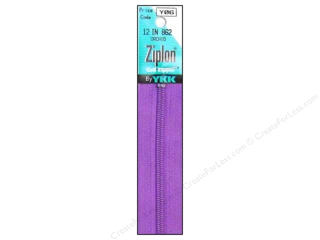 YKK Ziplon Coil Zipper 12 in. Orchid