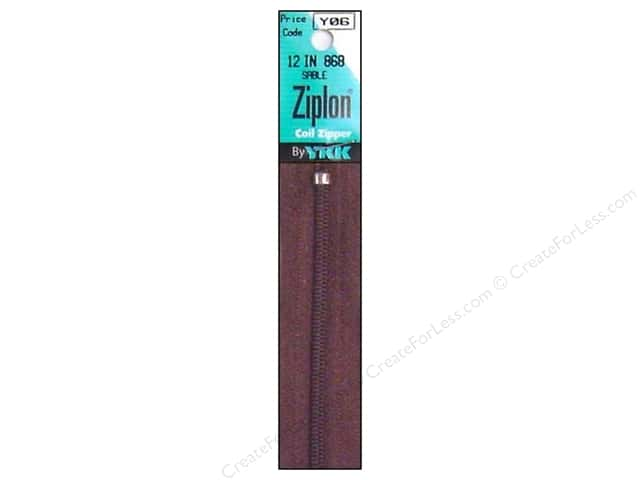 YKK Ziplon Coil Zipper 12 in. Sable