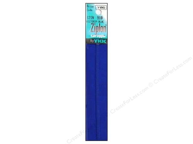 YKK Ziplon Coil Zipper 12 in. Victoria Blue