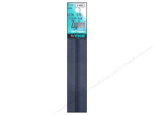YKK Ziplon Coil Zipper 12 in. Iceburg Blue