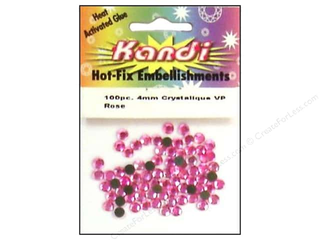 Kandi Crystalique Hotfix Crystals 4 mm 100 pc. Rose