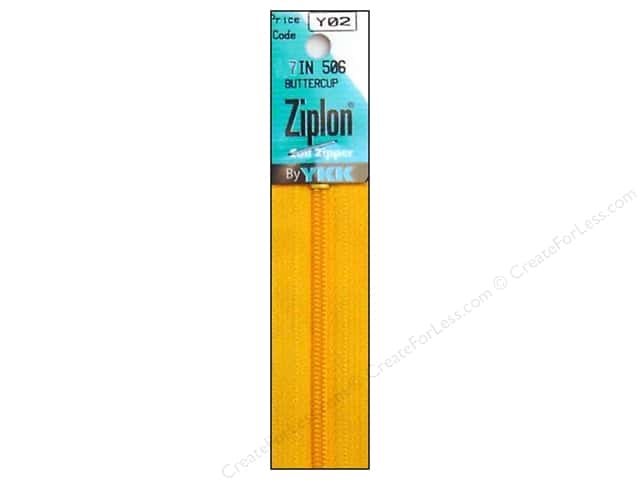 YKK Ziplon Coil Zipper 7 in. Buttercup