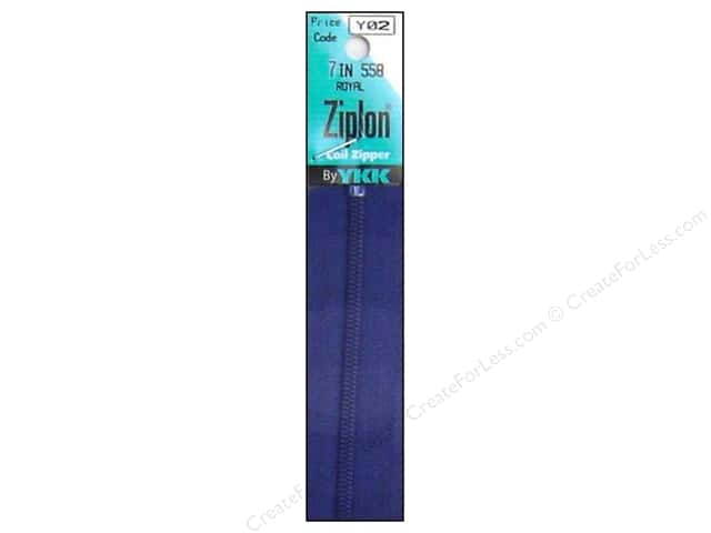 YKK Ziplon Coil Zipper 7 in. Royal