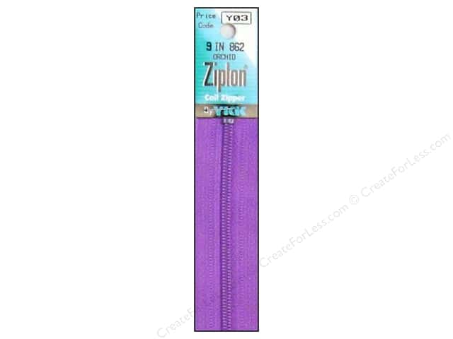 YKK Ziplon Coil Zipper 9 in. Orchid