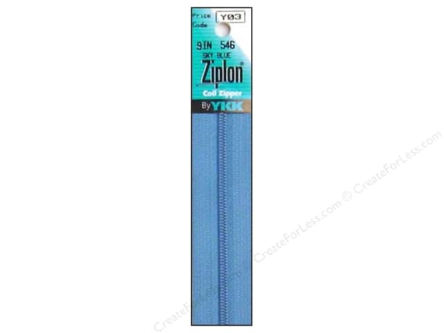 YKK Ziplon Coil Zipper 9 in. Sky Blue