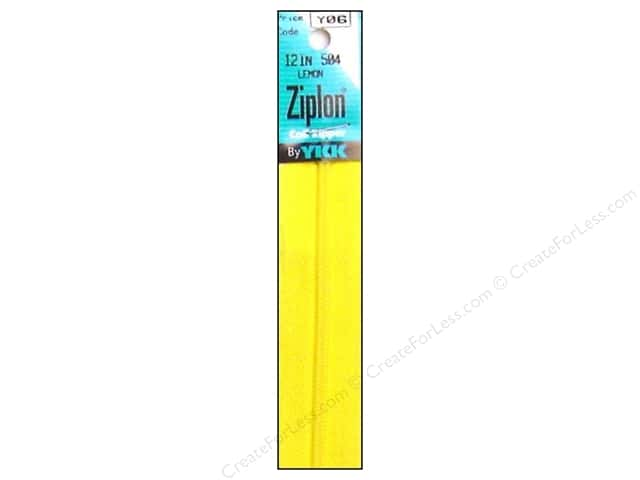 YKK Ziplon Coil Zipper 12 in. Lemon