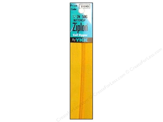 YKK Ziplon Coil Zipper 12 in. Buttercup