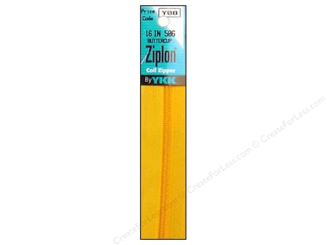 YKK Ziplon Coil Zipper 16 in. Buttercup