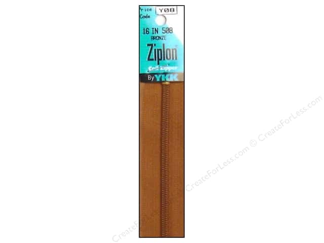 YKK Ziplon Coil Zipper 16 in. Bronze