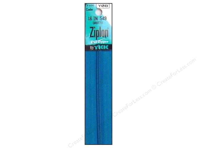 YKK Ziplon Coil Zipper 16 in. Grotto
