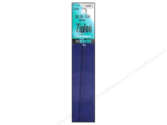 YKK Ziplon Coil Zipper 16 in. Royal